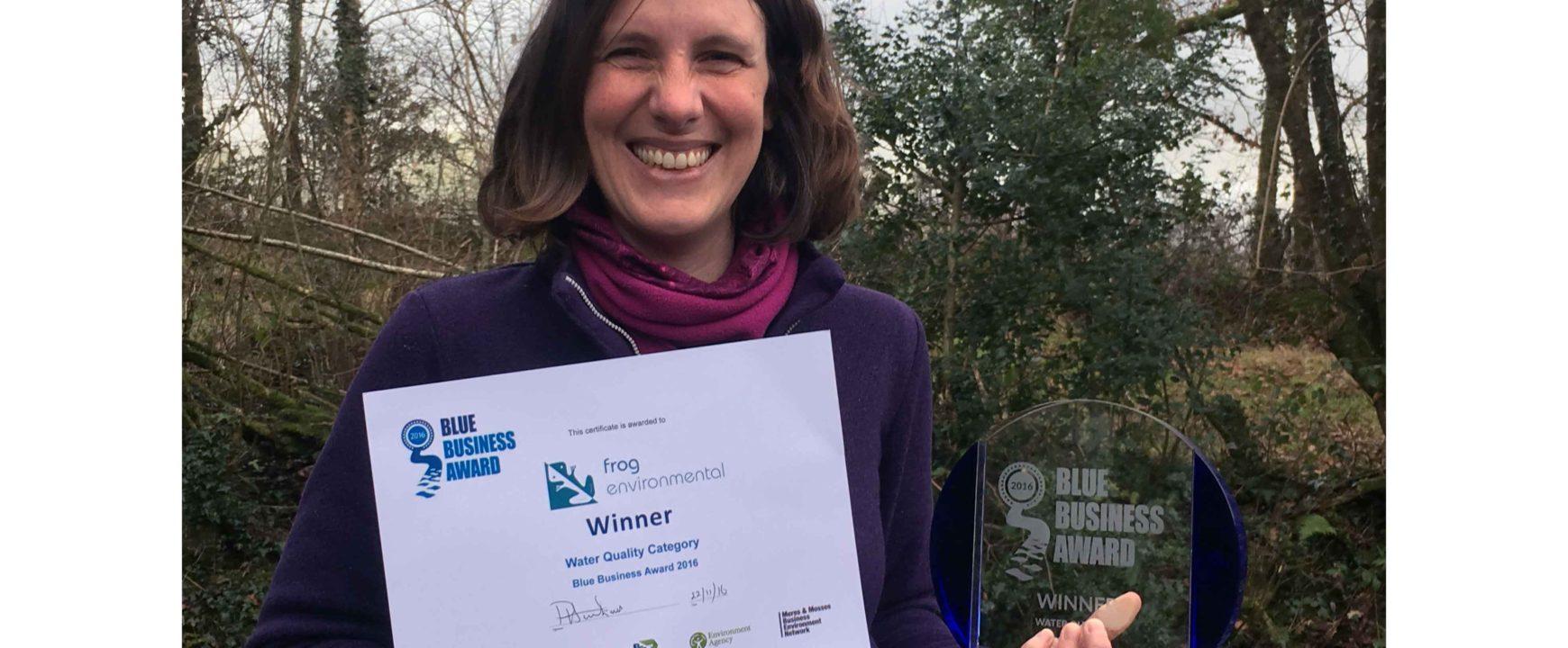 Leela-O'Dea-and-the-Blue-Business-Awards,-Shropshire-Wildlife-Trust