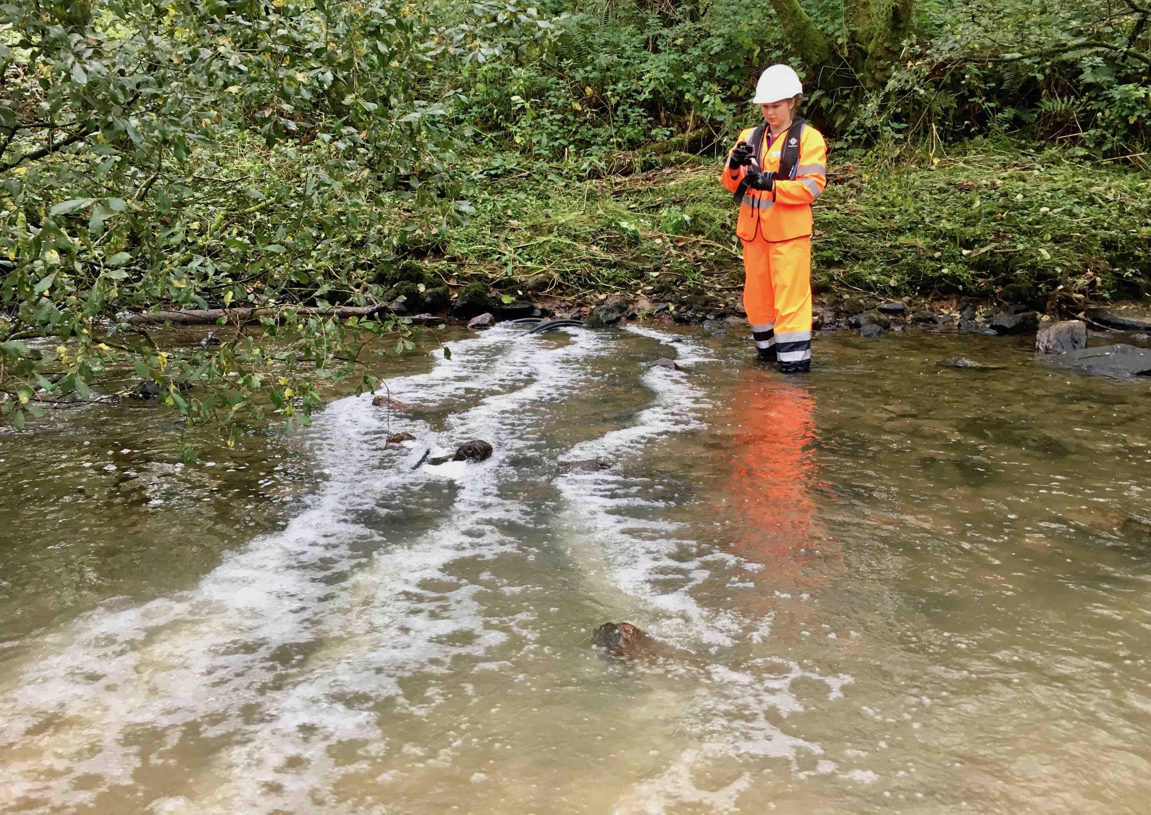 Using 4 lines of Bubble Tubing on Afon Gwili