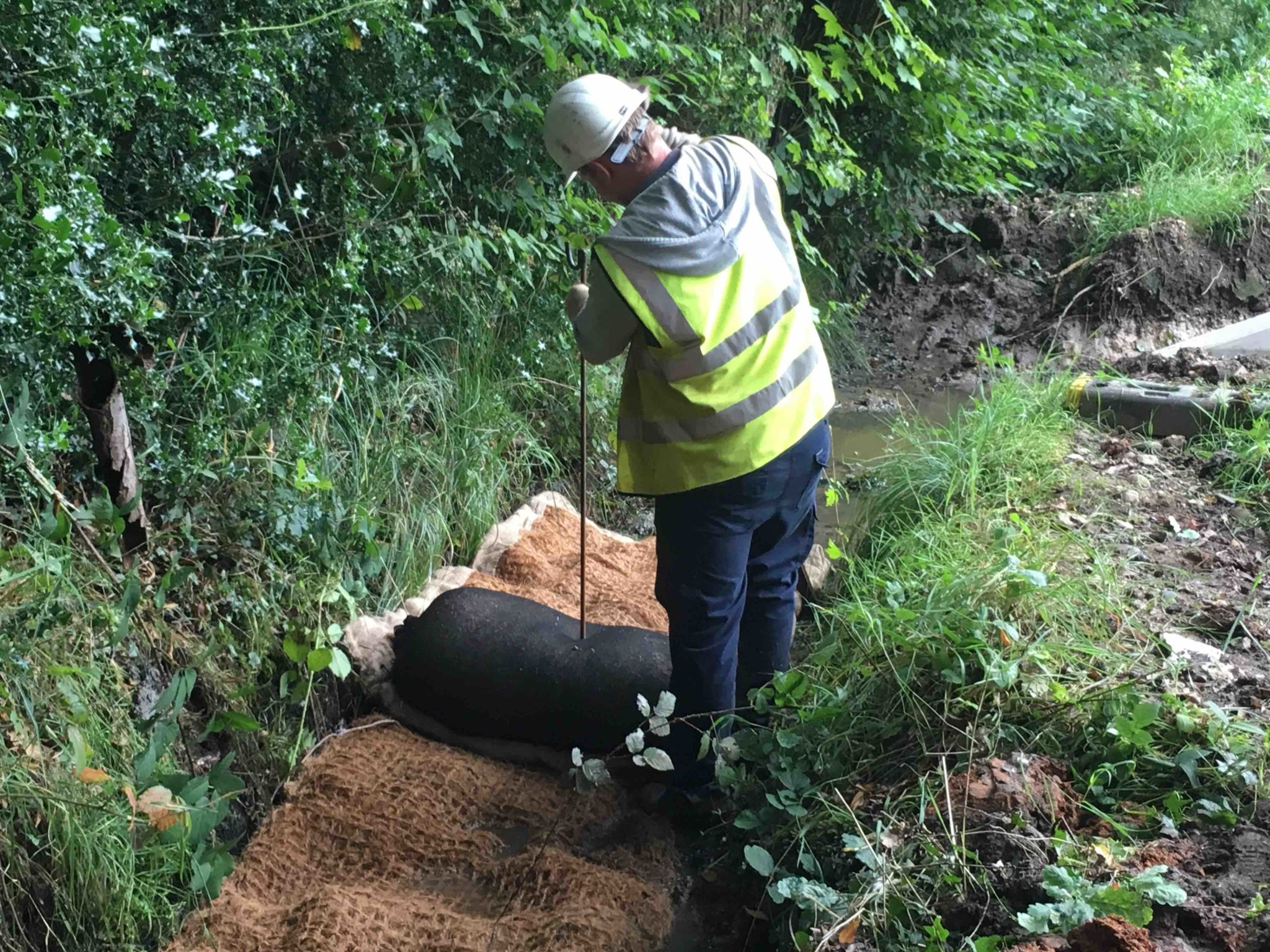 Improving settlement and capture of silt in site ditches using SiltMat and Silt Wattle