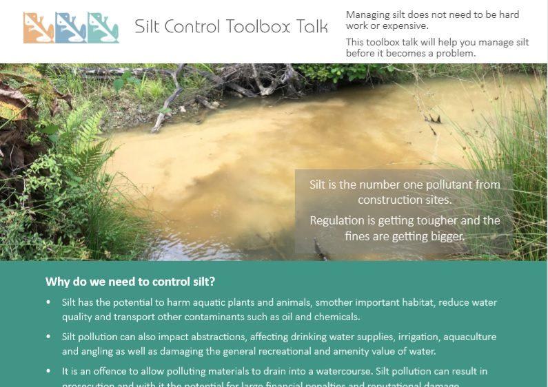 Silt Control Toolbox